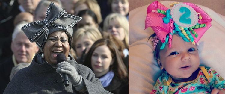 Aretha Franklin and Zadie wear similar hats.