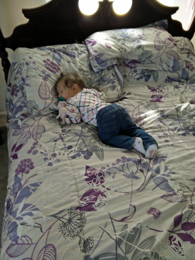 Zadie Asleep on Mommy's Childhood Bed
